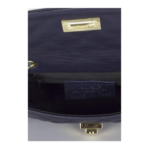 Tmavě modrá kožená kabelka Giulia Massari Phaedra