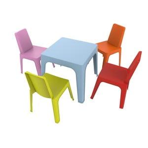 Dětský zahradní set 1 modrého stolu a 4 židliček Resol Julieta