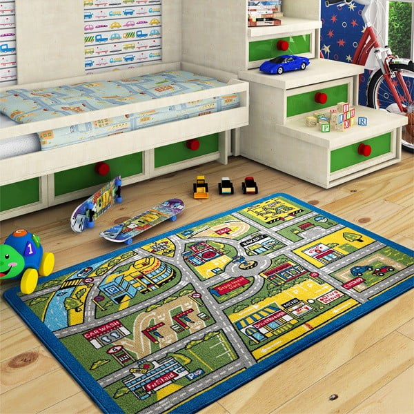 Dětský koberec Traffic, 100x150 cm