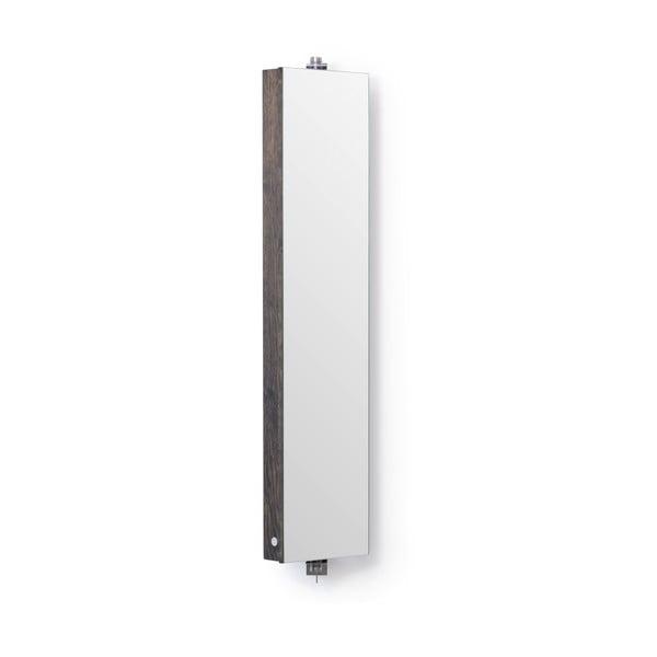 Otočné zrcadlo s úložným prostorem Wireworks Mezza Dark, výška 111 cm