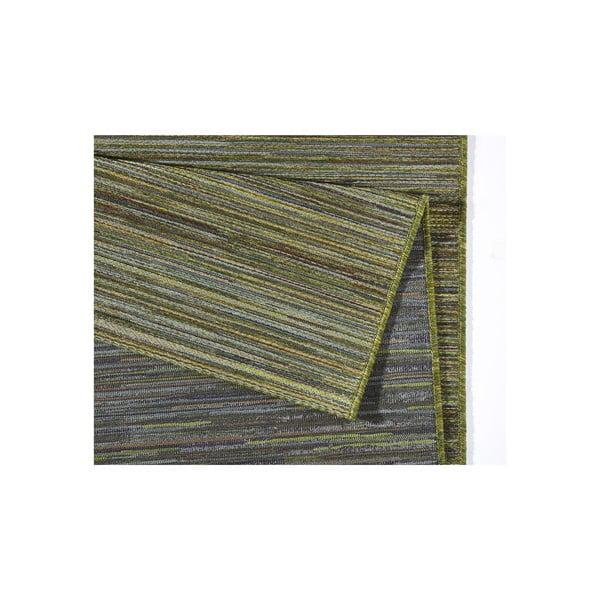 Koberec vhodný i na ven Lotus 160x230 cm, zelený melír