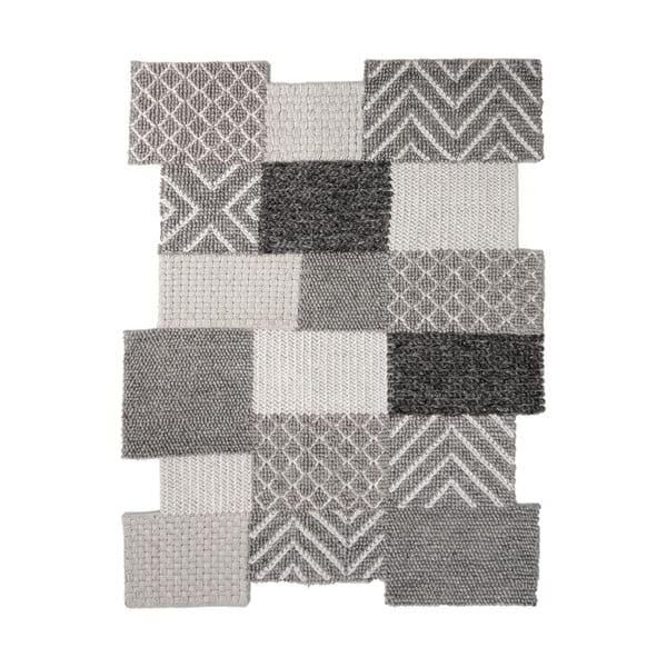 Šedý ručně tkaný koberec Flair Rugs Agra, 120x170cm