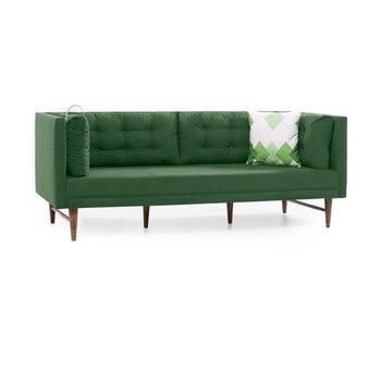 Canapea cu 3 locuri Balcab Home Eva verde