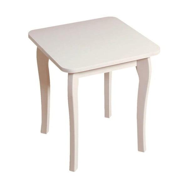 Biela stolička k toaletnému stolíku Steens Baroque
