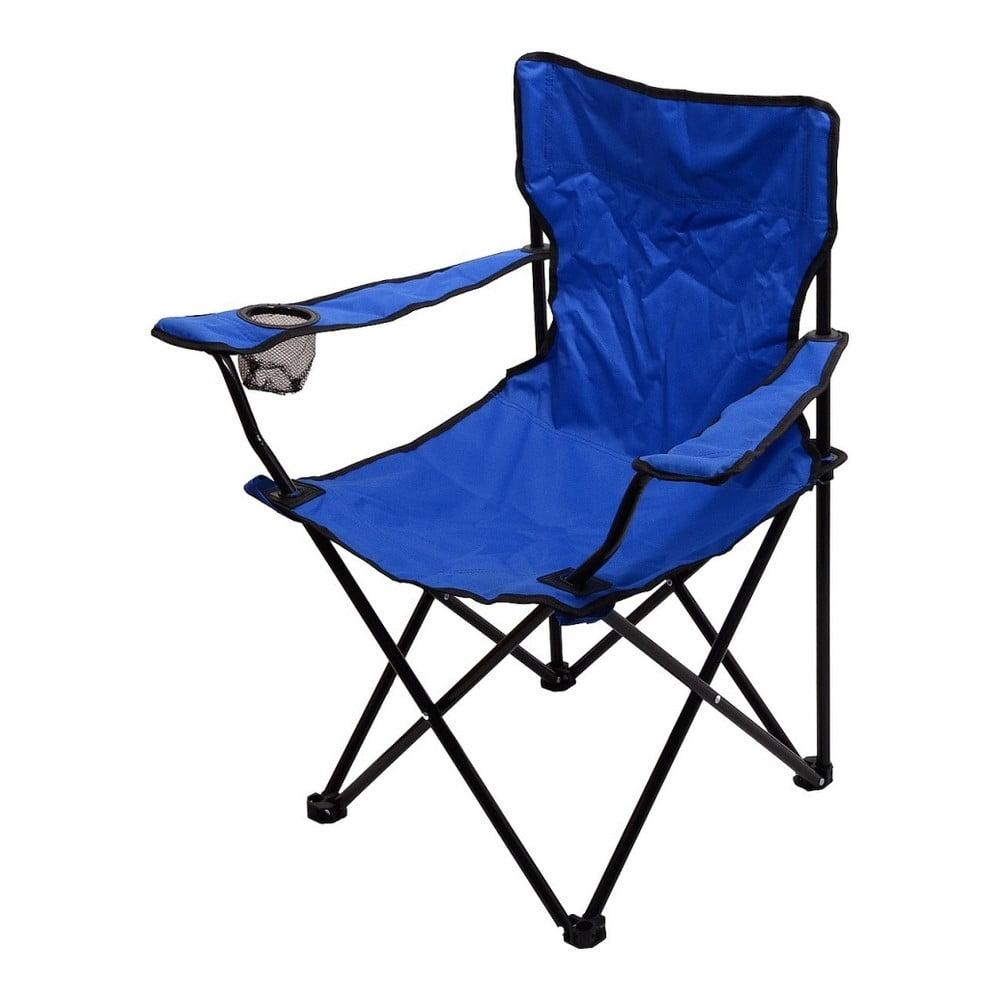 Modrá skládací kempingová židle Cattara Bari