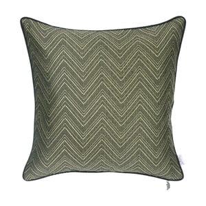 Zelený žakárový povlak na polštář Apolena Alecto, 43 x 43 cm