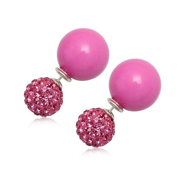 Náušnice Double Pearl Pink