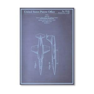 Plakát Airplane, 30x42 cm