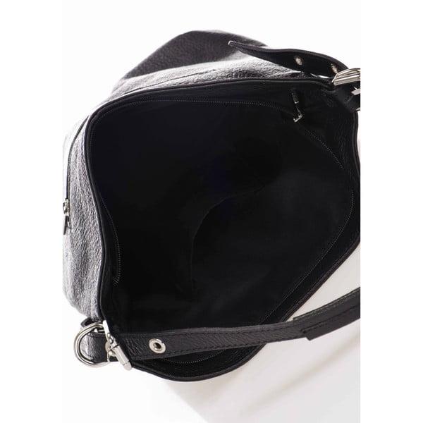 Geantă din piele Giorgio Costa Ravena, negru