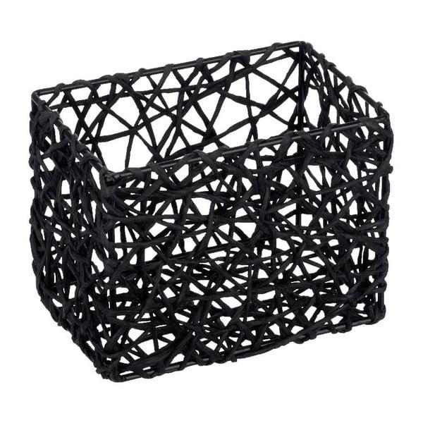 Černý koupelnový košík Wenko Curly