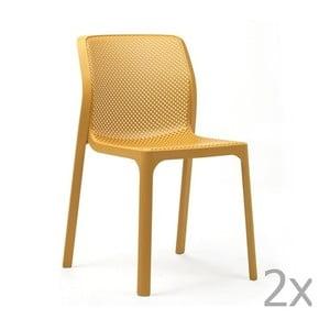 Sada 2 žlutých zahradních židlí Nardi Bit