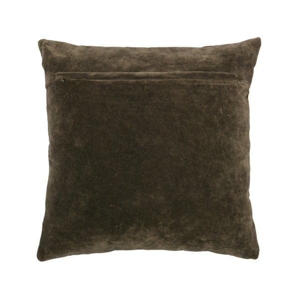 Tmavě šedohnědý polštář BePureHome Cuddle