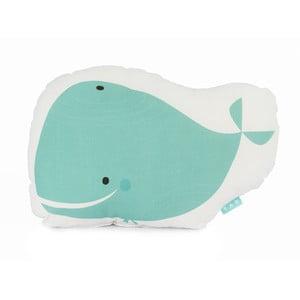 Bavlněný polštářek Moshi Moshi Whale, 40x30cm