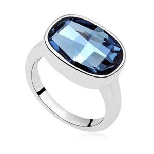 Prsten s modrým krystalem Swarovski Uranium, velikost 52