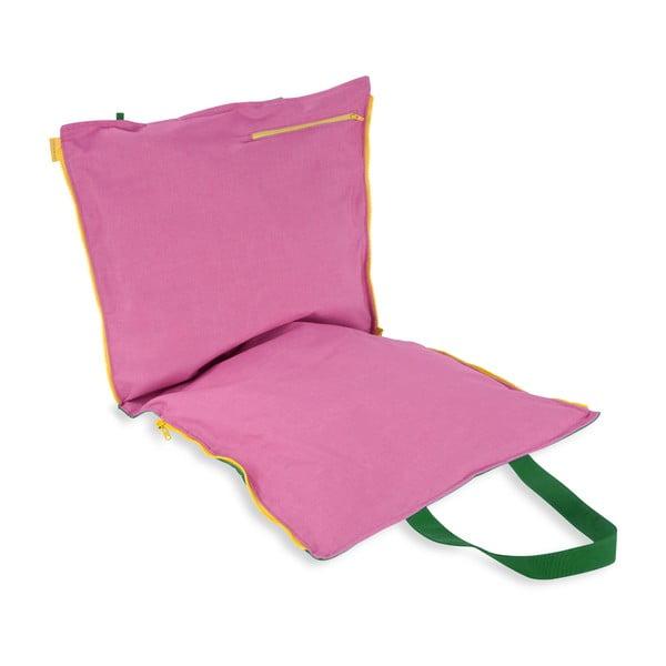 Skládací sedák Hhooboz 100x50 cm, zelené
