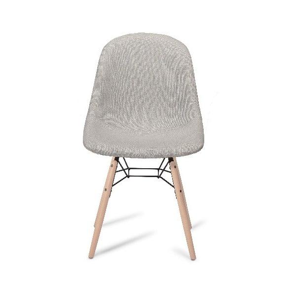 Scaun cu picioare din lemn de fag Furnhouse Sun, gri