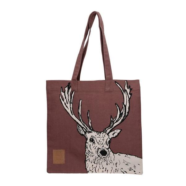 Hnedá bavlnená plátená taška Creative Tops Wild Stag