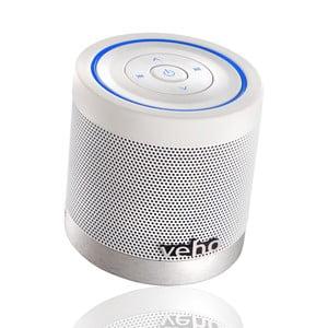Bílý mini reroduktor Veho Bluetooth 360BT s Micro SD kartou