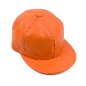Kožená kšiltovka Nappa 6 Orange