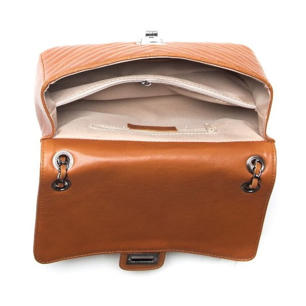 Kožená kabelka Anna Luchini 2118 Cognac