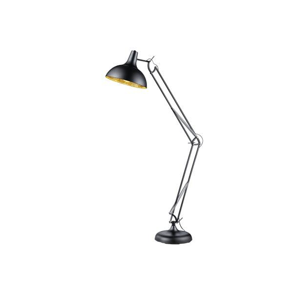 Černá kovová stojací lampa Trio Salvador, 75 cm