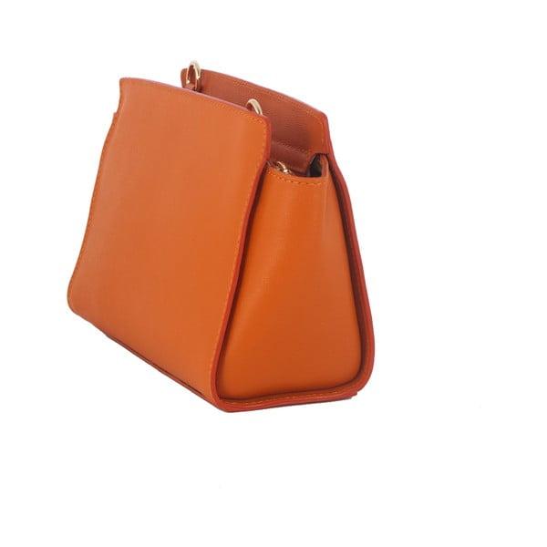 Oranžová kabelka z pravé kůže Andrea Cardone Mattia