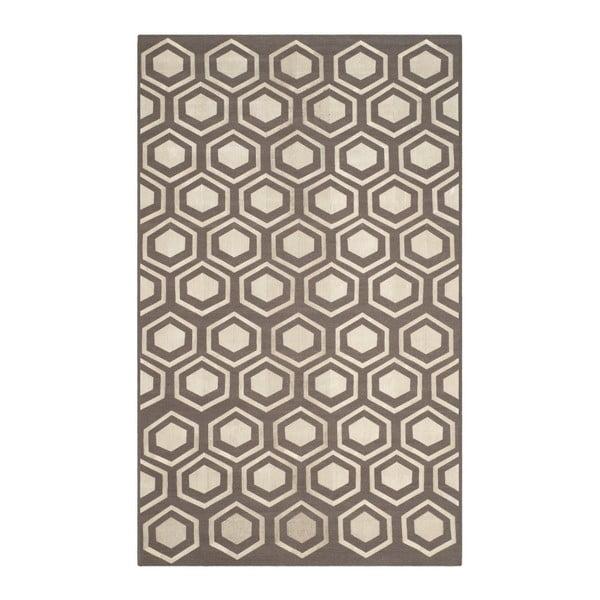 Vlněný koberec Safavieh Sari, 152x243 cm, hnědý