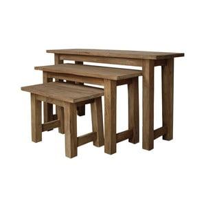Sada 3 lavic  z teakového dřeva HSM collection Bali
