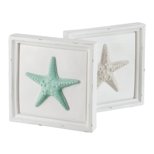 Sada 2 dekorativních rámečků Starfish, 31x5x30 cm