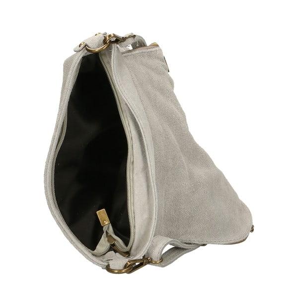 Šedá kožená kabelka Chicca Borse Sullo
