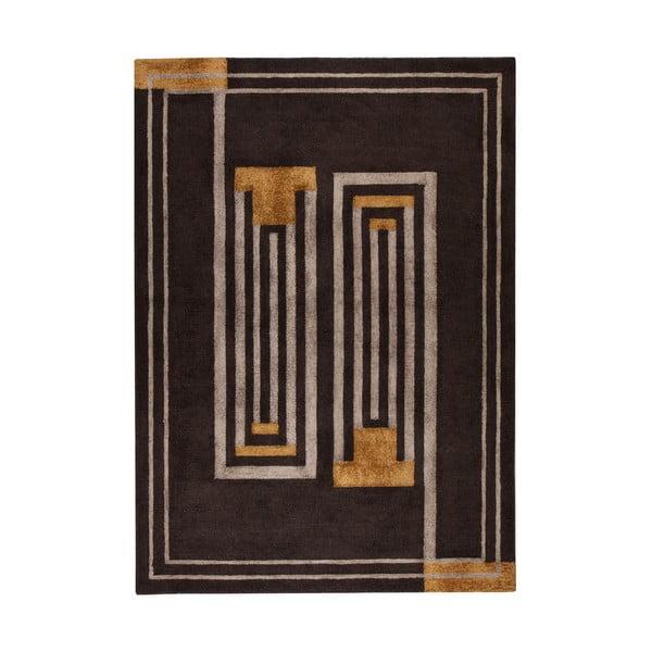 Hnědý ručně tkaný koberec Flair Rugs Moderne Lifestyle, 200x290cm
