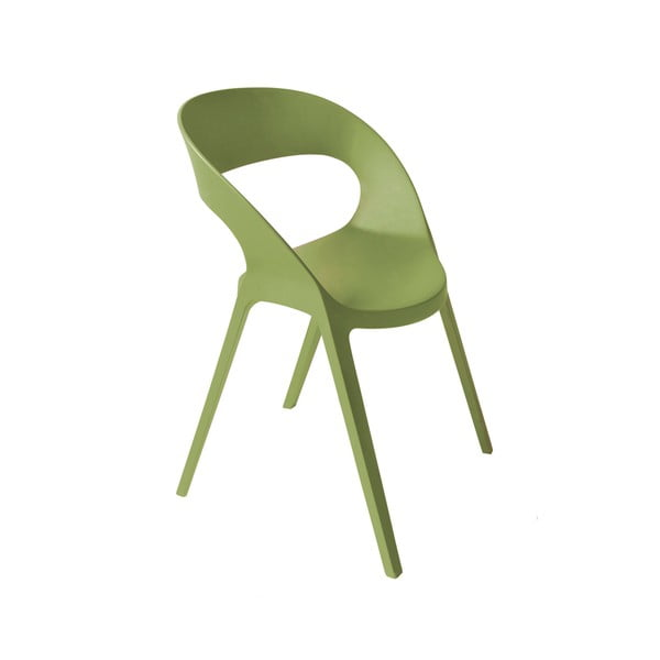 Zestaw 2 oliwkowozielonych krzeseł ogrodowych Resol Carla