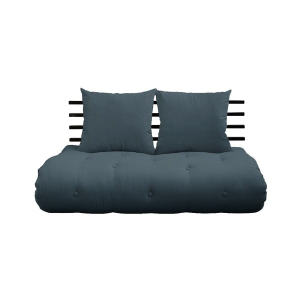 Shin Sano Black/Petrol Blue kék kinyitható kanapé - Karup Design