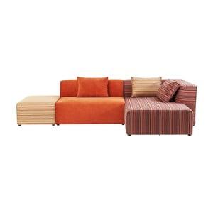 Canapea cu șezlong pe partea dreaptă Kare Design Infinity Merci