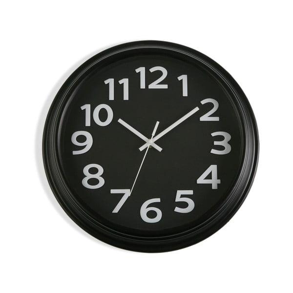 Černé nástěnné hodiny Versa In Time, ⌀ 32,7 cm