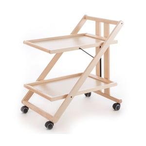 Bílý pojízdný servírovací stolek z bukového dřeva Arredamenti Italia Gimmy