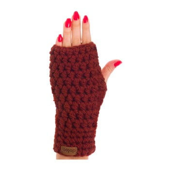 Mănuși tricotate manual DOKE Marsala, maro de la DOKE