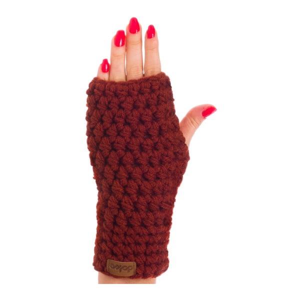 Mănuși tricotate manual DOKE Marsala, maro