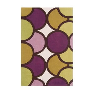 Covor Asiatic Carpets Harlequin Waves, 150 x 90 cm, verde - violet