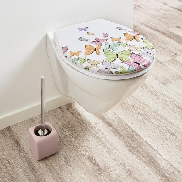 Růžový toaletní kartáč KleinWolke Cubic