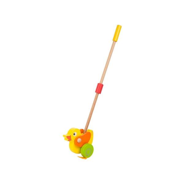 Drevená hračka na tyči Legler Animal Duck