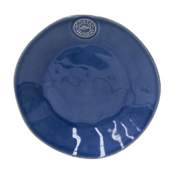 Tmavě modrý kameninový dezertní talíř Costa Nova Nova, ⌀21cm