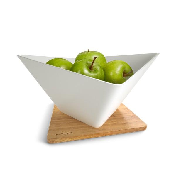 Odkapávací mísa na ovoce s podložkou Draining Fruit Bowl, bílá