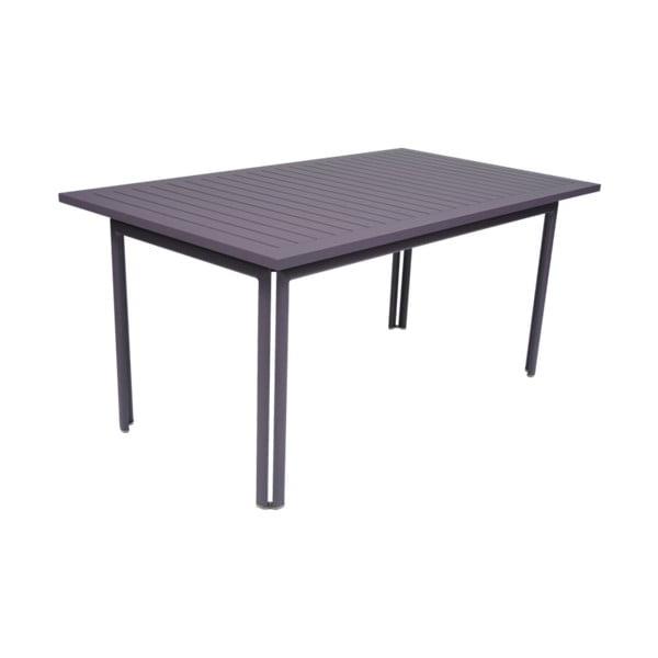 Fialovomodrý záhradný kovový jedálenský stôl Fermob Costa, 160×80 cm