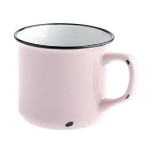 Světle růžový keramický hrnek Dakls Story Time Over Tea, 230 ml