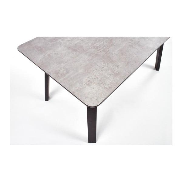 Jídelní stůl v dekoru betonu Halmar Proton, 160x90cm