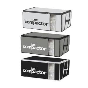 Set 3 cutii depozitare din material textil Compactor XXL