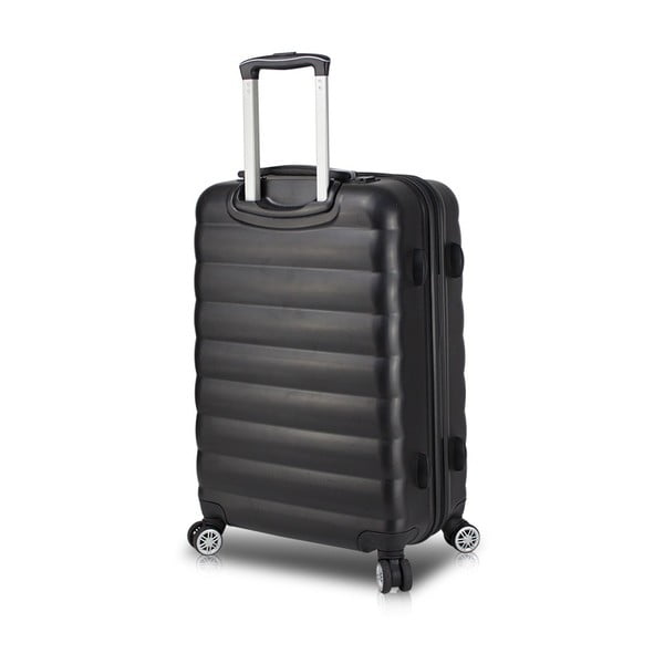 Czarna walizka na kółkach z USB My Valice COLORS RESSNO Pilot Suitcase