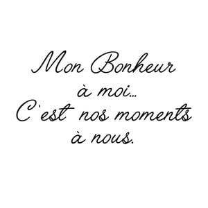 Samolepka Ambiance Mon Bonheur Quote