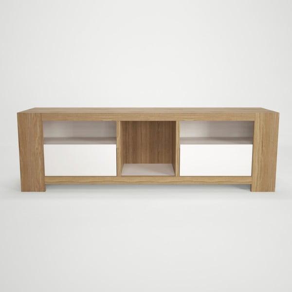 Szafka pod TV z drewna bukowego Artemob